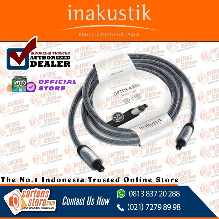 Foto Produk Kabel optic inakustik Germany white line series 1.75m by Cartens Audio dari Cartens Store