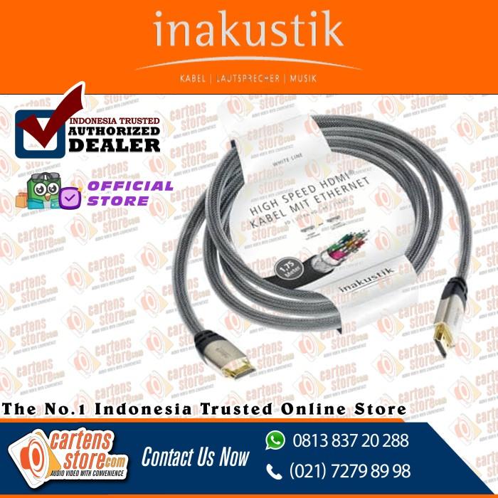 Foto Produk Inakustik White Line HDMI Cable (2.0/3D/4K/2160p) 1.75m-3M by Cartens dari Cartens Store