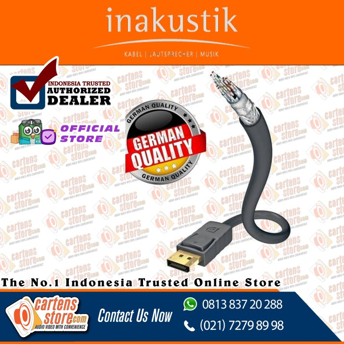 Foto Produk Kabel display port inakustik excellent series 3m by Cartens Audio dari Cartens Store