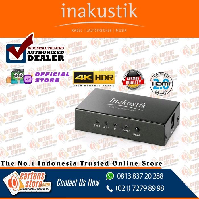 Foto Produk HDMI Splitter Inakustik Germany Premium 2 Output 2.0/4K by Cartens dari Cartens Store