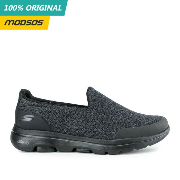 Foto Produk Sepatu Slip On Pria Skechers Go Walk 5 Mono Black Original dari Modsos