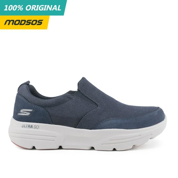 Foto Produk Sepatu Slip On Pria Skechers Go Walk Relaxed Fit Navy Original dari Modsos