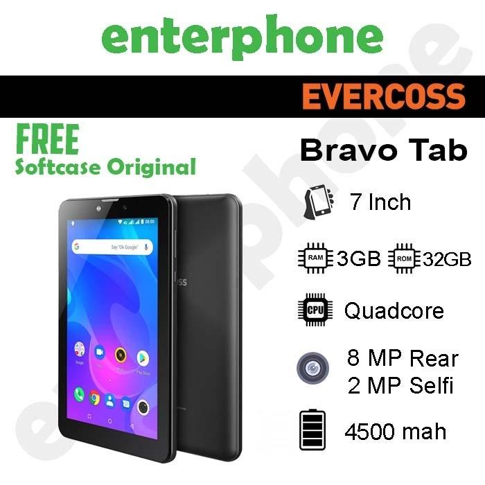 Foto Produk Evercoss Bravo Tab 3/32Gb Garansi Resmi - Hitam dari enterphone2