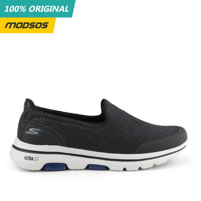 Foto Produk Sepatu Slip On Pria Skechers Go Walk 5 Black Original dari Modsos