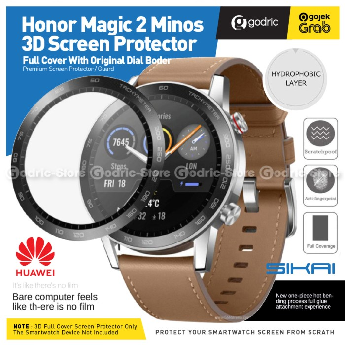Foto Produk SIKAI 3D CURVED Full Cover Screen Protector for Honor Magic 2 46MM dari Godric Store