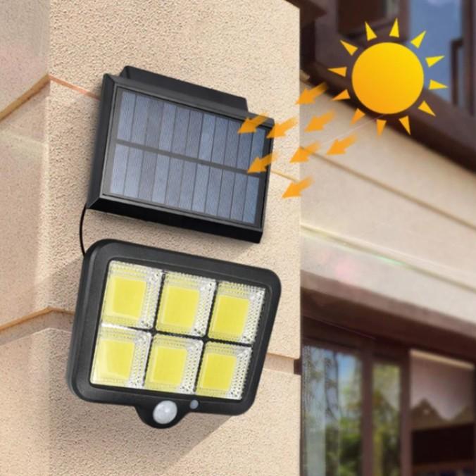 Foto Produk LAMPU TENAGA SURYA MATAHARI SOLAR CELL COB w/ PIR Motion Sensor Gerak dari DO OFFICIAL STORE