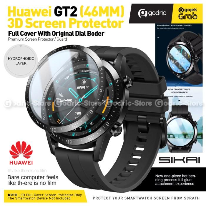 Foto Produk SIKAI 3D CURVED Full Cover Screen Protector for Huawei GT2 GT 2 46MM dari Godric Store