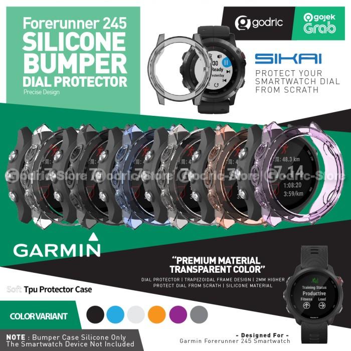 Foto Produk SIKAI Rubber Case TPU Bumper Cover GARMIN FORERUNNER 245 / 245M MUSIC - BLACK dari Godric Store