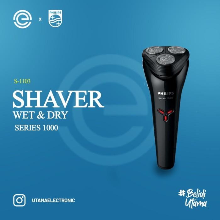 Foto Produk PHILIPS Shave Wet & Dry Series 1000 - S1103 dari UTAMA_ELECTRONIC