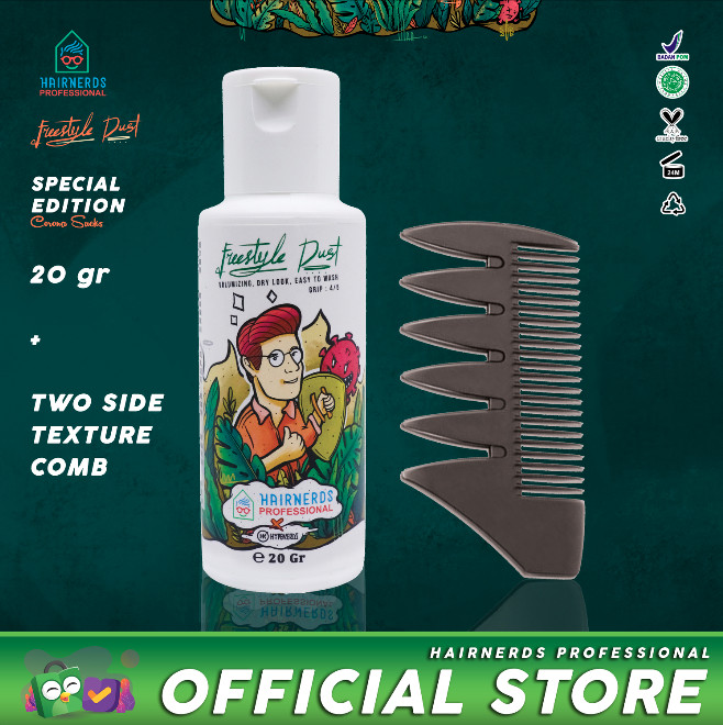 Foto Produk Hairnerds Professional Powder + Texture Comb / Styling Comb dari Hairnerds Professional