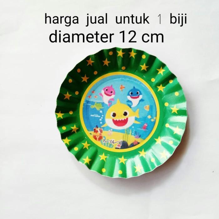 Foto Produk piring kertas ulang tahun karakter baby shark diameter 12cm dari recht shop
