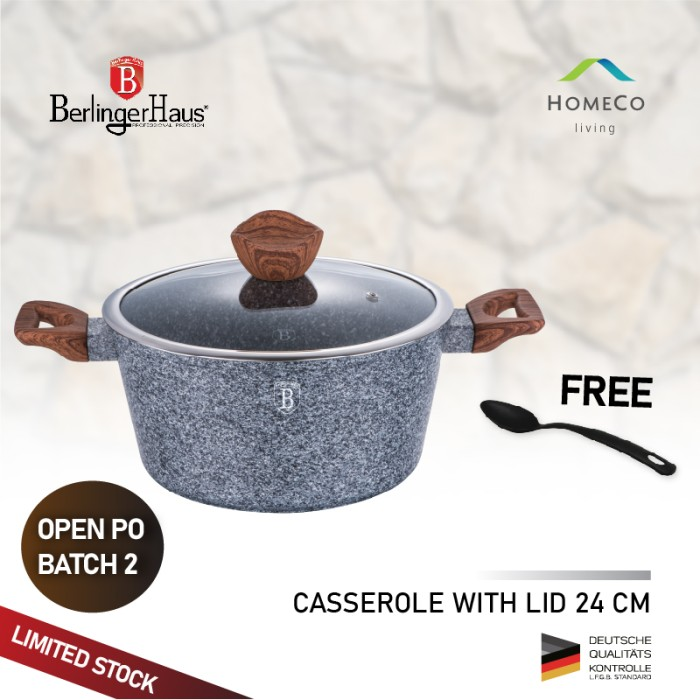 Foto Produk BERLINGER HAUS PANCI BERTUTUP CASSEROLE WITH LID 24 CM FOREST LINE dari Homeco Living Official
