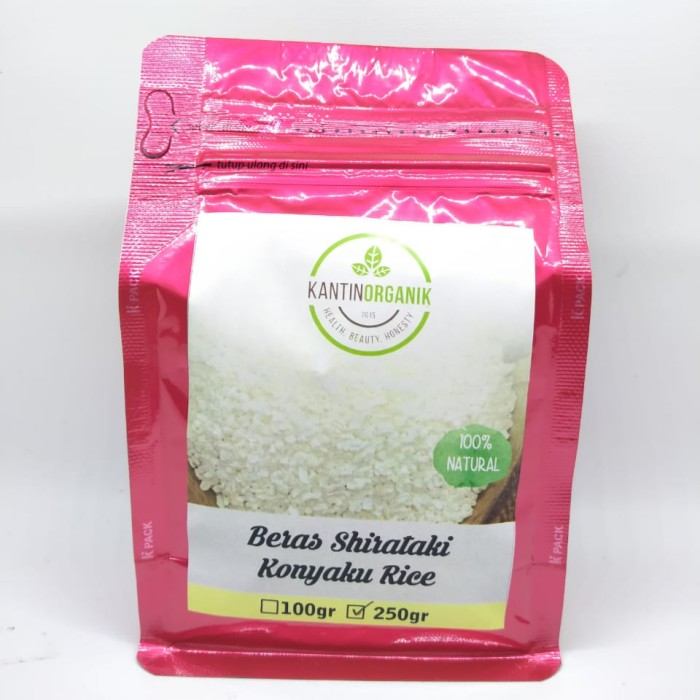 Foto Produk Beras Shirataki Low Carbs Shirataki Konnyaku Rice 250gr dari Kantin Organik