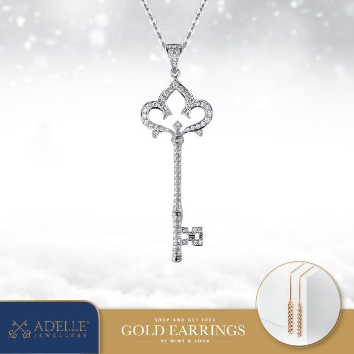 Foto Produk Diamond Pendant - Liontin Berlian Adelle Jewellery - DPC3723R01M - White Gold dari Adelle Jewellery