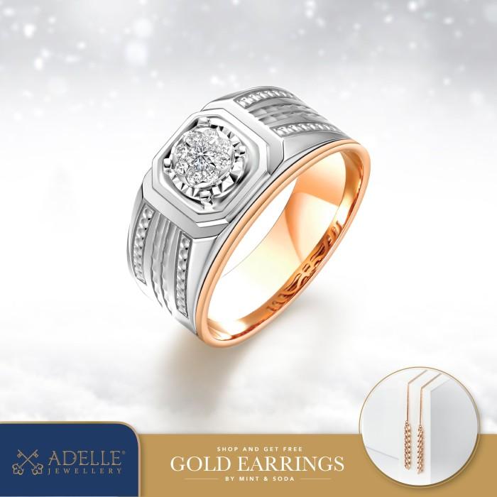 Foto Produk Cincin Pria - Cincin Berlian Adelle Jewellery - EFS-P007AEP - Twotone, 21 dari Adelle Jewellery