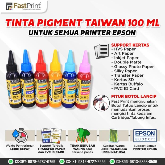 Foto Produk Tinta Pigment Tahan Panas Khusus Transfer Paper Black 100 ML dari Fast Print Jakarta