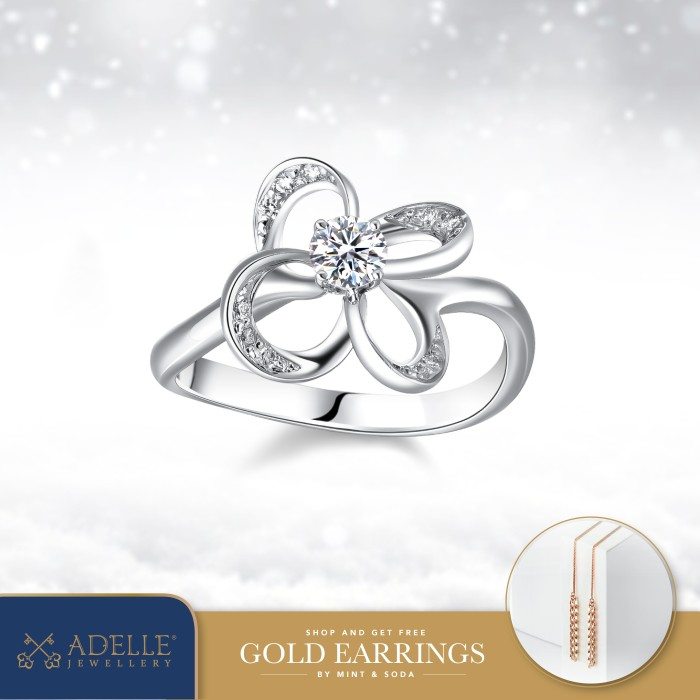 Foto Produk Cincin Berlian Adelle Jewellery - Diamond Ring - 040707 - White Gold, 14 dari Adelle Jewellery