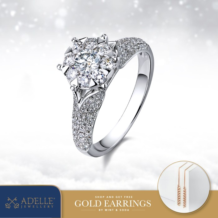 Foto Produk Cincin Berlian Adelle Jewellery - Diamond Ring - GR2826I_W - White Gold, 11 dari Adelle Jewellery