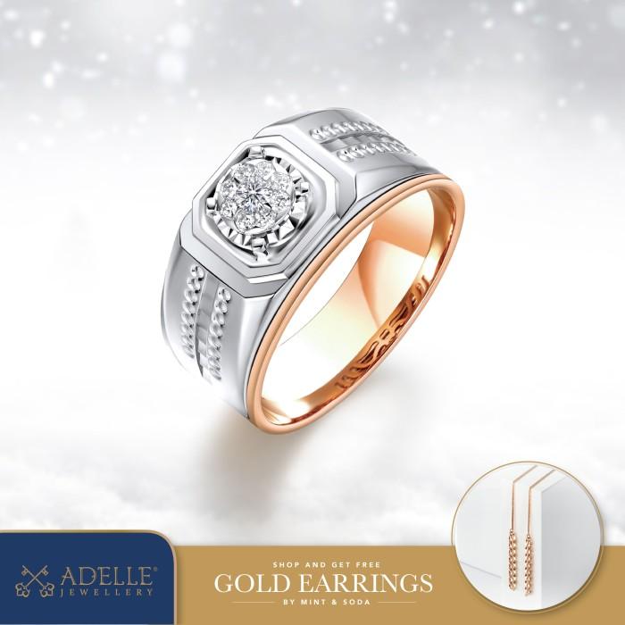 Foto Produk Cincin Pria - Cincin Berlian Adelle Jewellery - EFS-P014AEP - Twotone, 22 dari Adelle Jewellery