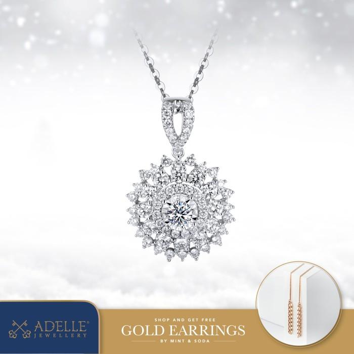 Foto Produk Adelle Jewellery - Chrisantemum Diamond Pendant - Liontin Berlian - White Gold dari Adelle Jewellery