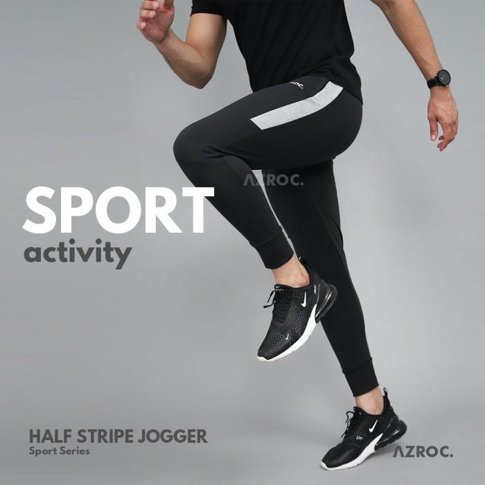 Foto Produk Half Stripe Jogger - Abu Misty, All Size dari Azroc Official