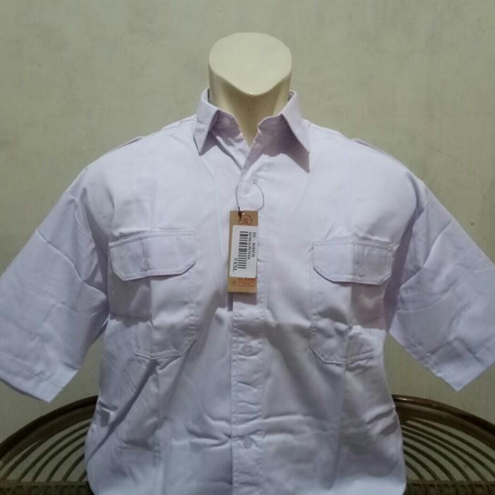 Foto Produk kemeja Putih Lengan pendek ASN/KANTONG 2/PANGKAT dari MODEL ODEL FASHION
