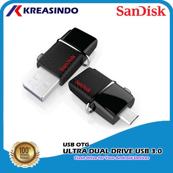 Foto Produk Sandisk Otg Ultra Dual Drive USB 3.0 32gb 64gb 128gb 256gb 512gb Resmi - 32gb dari Kreasindo Online