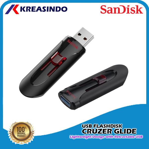 Foto Produk Sandisk Cruzer Glide Usb 3.0 Flashdisk 32gb 64gb 128gb 256gb 512gb - 64gb dari Kreasindo Online