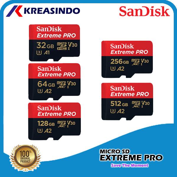 Foto Produk Sandisk Extreme Pro A2 Microsd 32gb 64gb 128gb 256gb 512gb 1tb - 32gb dari Kreasindo Online