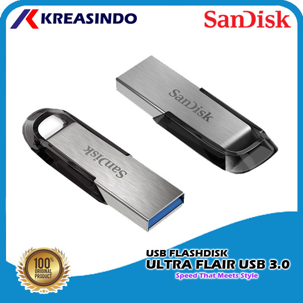 Foto Produk Sandisk Ultra Flair Usb 3.0 Flashdisk 32gb 64gb 128gb 256gb 512gb - 64gb dari Kreasindo Online