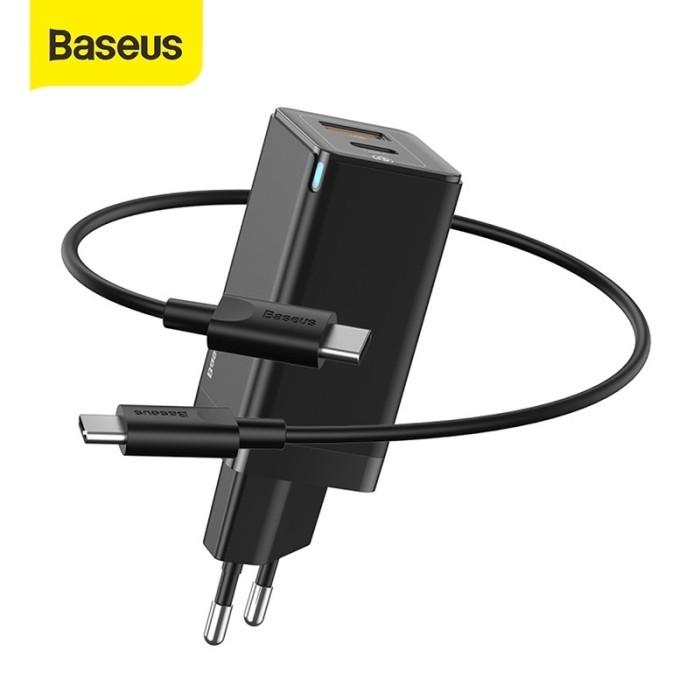 Foto Produk baseus tc fast charger gan mini 45w pd qc scp afc 3.0 c to c macbook dari Vilox