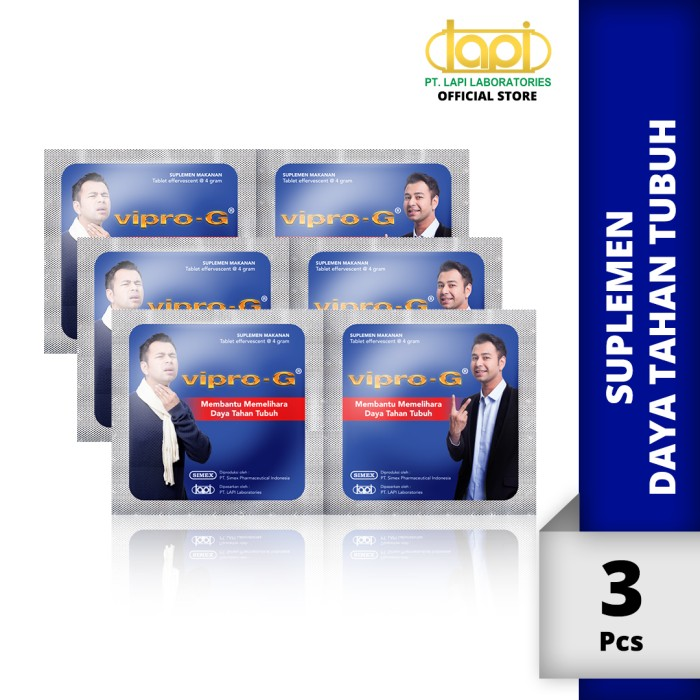 Foto Produk Paket 3 pcs VIPRO-G - 1 Strip @ 2 Tablet dari Lapi Official Shop