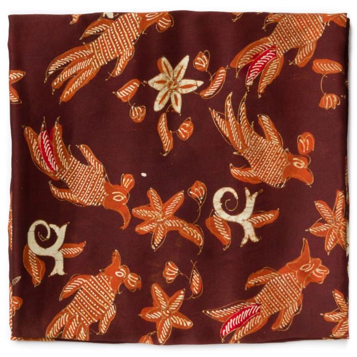 Foto Produk Kain Batik Tulis Sutra Madura Motif Burung Isen Garis Titik dari Kainusa