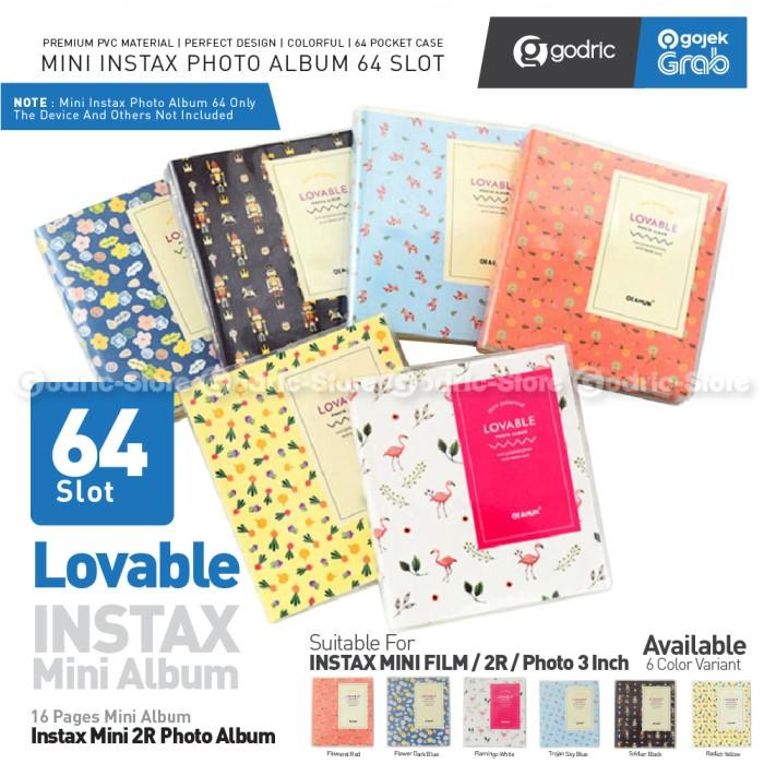Foto Produk Album MINI LOVABLE 64 Foto for Fujifilm Instax Mini 11 9 8 / Photo 2R - FLOWER DARK BLU dari Godric Store