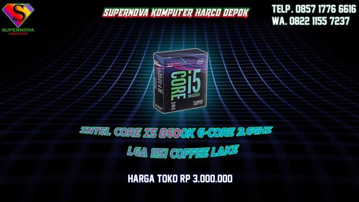 Foto Produk Intel Core I5 8600K 6-Core 3.6Ghz (LGA 1151 COFFEE LAKE) not i7 8700k dari Supernova Computer Ariet