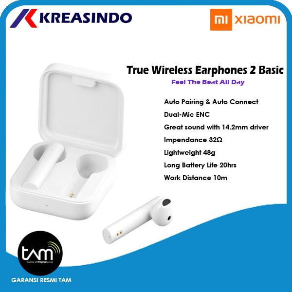 Foto Produk Xiaomi Mi True Wireless TWS Earphones 2 Basic Garansi Resmi TAM dari Kreasindo Online