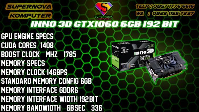 Foto Produk INNO 3D GTX1060 6GB 192 BIT dari Supernova Computer Ariet