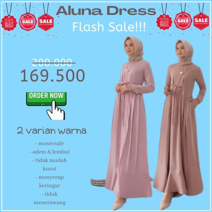 Foto Produk PROMO FLASH SALE!!TerbaruAluna Dress Size S M L XL warna Mocca Almond dari SPEED_DEALS
