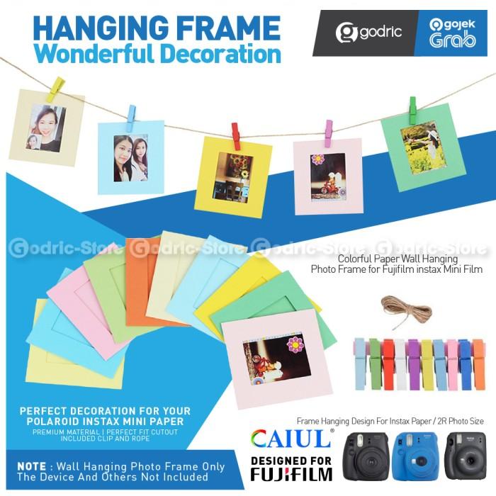 Foto Produk Hanging Decor Wall Frame Album Foto Instax Mini 11 / 9 / Photo 2R Etc dari Godric Store