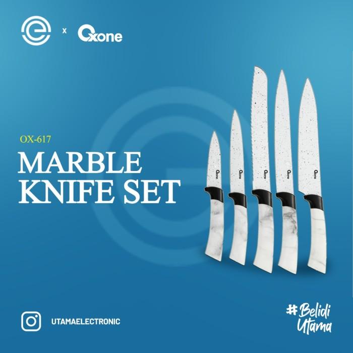 Foto Produk OXONE Pisau Set Marble Putih OX-617 dari UTAMA_ELECTRONIC