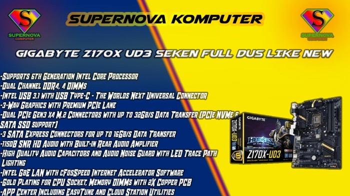Foto Produk GUGABYTE Z170X UD3 SEKEN FULL DUS LIKE NEW dari Supernova Computer Ariet