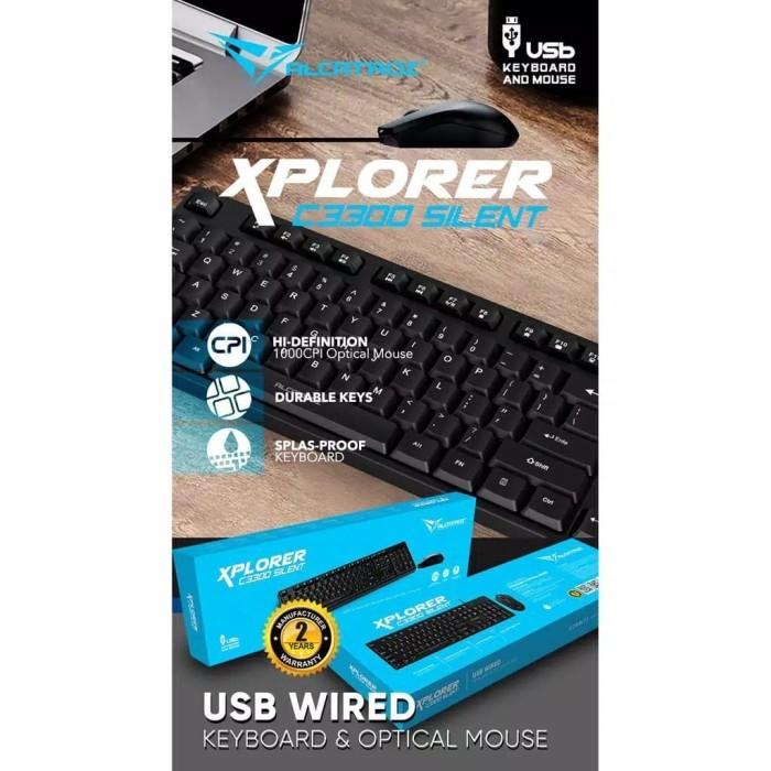 Foto Produk Keyboard MOUSE Alcatroz Xplorer C3300 Silent C 3300 dari PojokITcom Pusat IT Comp