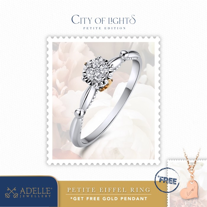 Foto Produk Adelle Jewellery – Petite Eiffel Ring – Cincin Emas Berlian - Twotone, 11 dari Adelle Jewellery