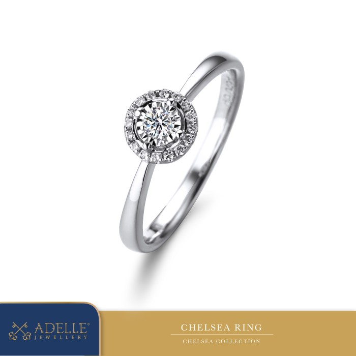 Foto Produk Adelle Jewellery - Chelsea Diamond Ring - Cincin Berlian - White Gold, 11 dari Adelle Jewellery