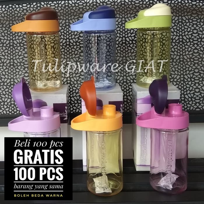 Foto Produk Mini Multi Botol Tulipware / Botol Minum Bening Anti Tumpah dari TULIPWARE collection