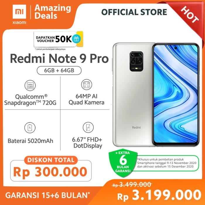 Promo Xiaomi Redmi Note 9 Pro 6gb 64gb Garansi Offical Interstellar Gr Kab Tangerang Xiaomi Official Store Tokopedia