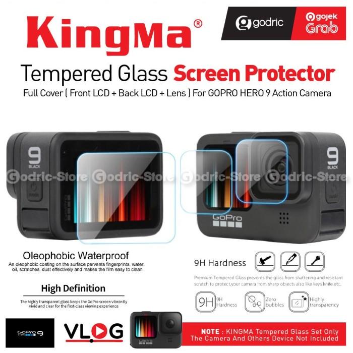 Foto Produk KingMa Tempered Glass 3in1 for GoPro Hero 9 Black Screen Protector HD dari Godric Store