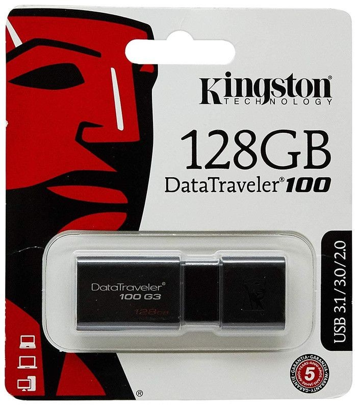 Foto Produk Flashdisk Kingston DT100G3 128gb 128 gb DT 100G3 DT 100 G3 USB 3.0 dari PojokITcom Pusat IT Comp