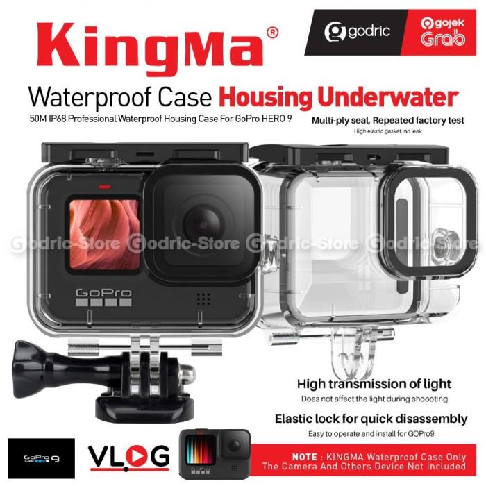 Foto Produk KingMa HERO9 Waterproof Case 50M Housing for Gopro Hero 9 Black Casing dari Godric Store