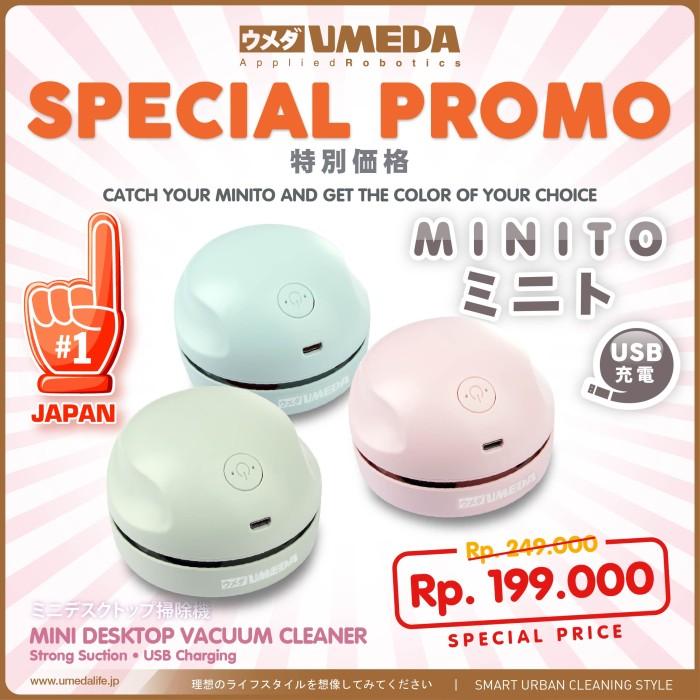 Foto Produk Umeda Minito USB charging Mini Lightweight Vacuum Cleaner - Biru Muda dari UMEDA